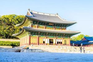 Gebäude im Changdeokgung-Palast in der Stadt Seoul, Südkorea foto
