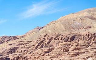Berglandschaft in der Wüste foto