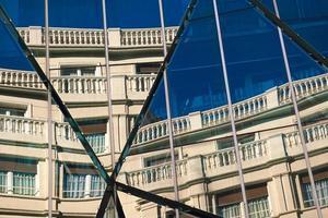 Dachgebäude Architektur in Bilbao Stadt, Spanien foto