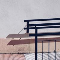 Treppenarchitektur auf der Straße in der Stadt Bilbao, Spanien foto