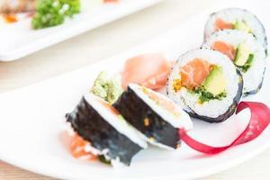 Sushi Roll Lachs Maki foto