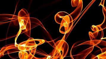 abstrakte Feuerflamme auf dunklem Hintergrund