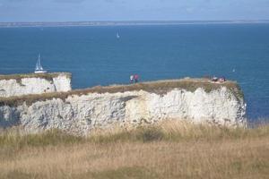 Dorset, England 2018 - alte Harry Rocks Kreide-Landzunge in England foto