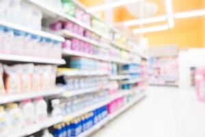 abstrakte Unschärfe Supermarkt