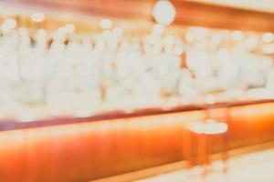 abstrakte Unschärfe Coffee Shop Hintergrund - Vintage Filter