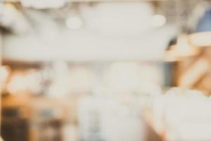 abstrakte Unschärfe Coffeeshop Hintergrund foto