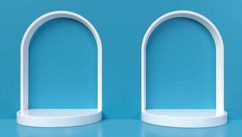 3D-Rendering von 2 blauen Bögen