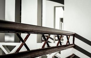 abstraktes Interieur des Geländers