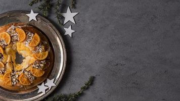 Flat Lay Epiphany Day Dessert mit Zutaten kopieren Platz foto