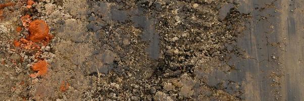 Hintergrundtextur von der glatten Oberfläche des Sandes foto