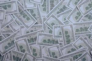 100 US-Dollar Banknoten Hintergrund foto