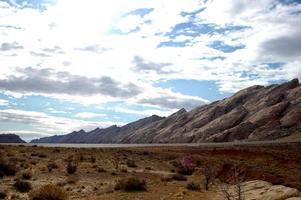 geologische Reichweite in der Wüste foto