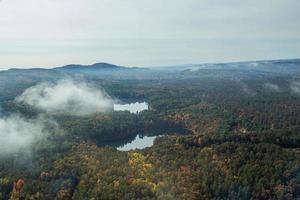 Luftaufnahme von New England in der Herbstsaison foto