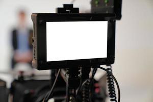 Kameramonitor zum Filmen von 4k-HD-Videokameras foto