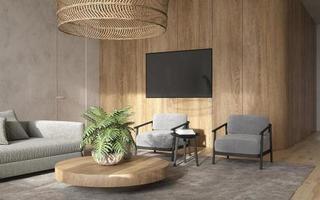 schlankes modernes Wohnzimmer foto