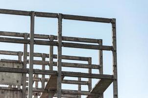 Betonrahmen für ein Gebäude foto
