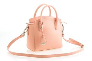 schöne Eleganz und Luxusmode rosa Frauen Handtasche foto