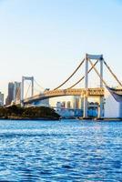 Regenbogenbrücke in der Tokio-Stadt bei Japan