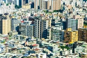 Stadtbild der Stadt Taipeh in Taiwan