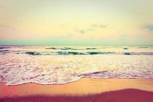 Vintage Meer und Strand foto