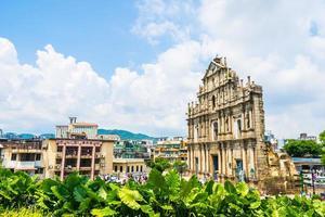 Ruinen von st. Paul Kirche in Macau Stadt, China foto