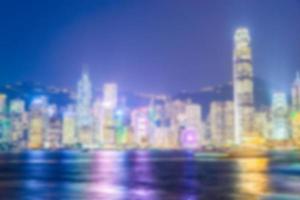 abstrakte defokussierte Hong Kong Skyline