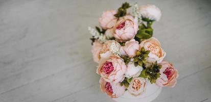 Blumenstrauß mit Platz zum Kopieren foto