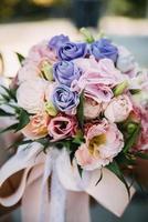 bunter Blumenstrauß foto