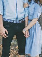 Paar in Jeans foto
