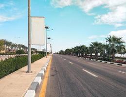 leere Straße in Ägypten foto