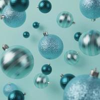 blauer Weihnachtsschmuckhintergrund foto