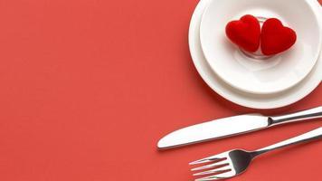 Valentinstag Kekse in einer Schüssel foto