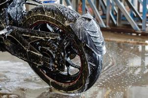 Seife auf dem Motorrad foto