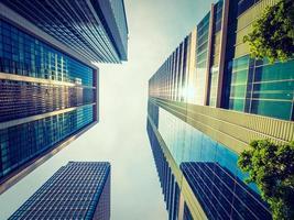 Wolkenkratzer in der Stadt foto