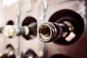 Vintage Weinflasche foto