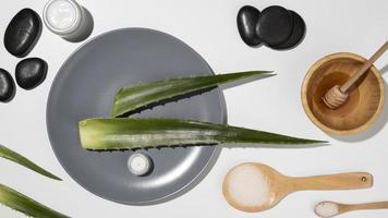 Aloe Vera Schönheits- und Hautpflegekonzept foto