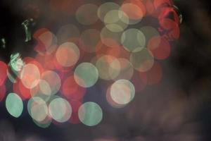 unscharfes Bild von Lichtkreisen foto