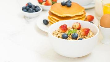 gesundes Frühstücksset foto