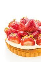 süßes Dessert mit Erdbeere auf Torte foto