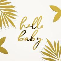 Hallo Baby Gold Zeichen foto