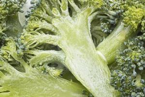 Draufsicht auf gefrorenen Brokkoli foto