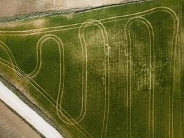 Luftaufnahme des landwirtschaftlichen ländlichen Landes foto