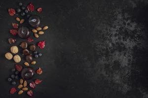 leckerer Snackrahmen mit Kopierraum foto