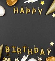 eleganter Rahmen für Geburtstagsornamente foto