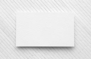 flacher Laienkopienraum-Visitenkartenweißhintergrund foto