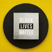 schwarzes Leben Materie Protestzeichen foto