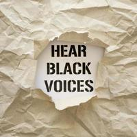 höre schwarze Stimmen Protestzeichen foto