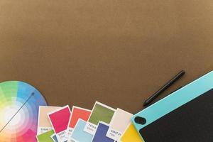 Kreativitätskonzept mit grafischem Tablet-Platz. schöne Qualität und Auflösung schönes Fotokonzept foto