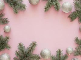 flach lag schöner Weihnachtshintergrund foto
