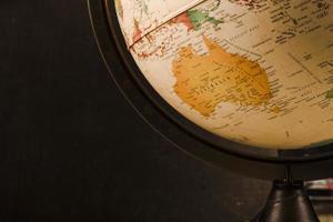 Vintage Vintage alter Globus der Nahaufnahme foto